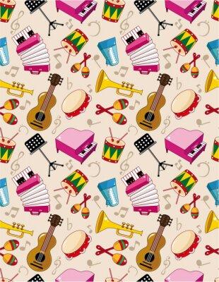Posters modèle de la musique sans soudure