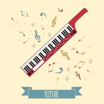 Posters Modèle graphique d'instruments de musique. Keytar.