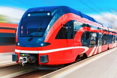 Posters Moderne train à grande vitesse