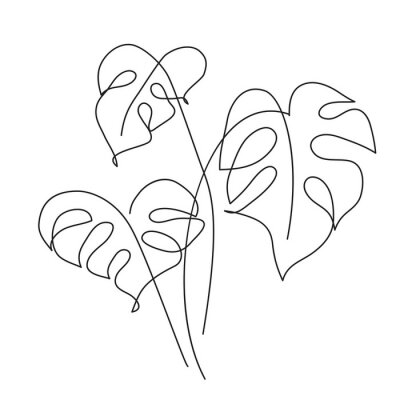 Posters Monstera Tropical leaf