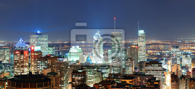 Montréal au crépuscule panorama