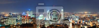 Montréal au panorama de la tombée de la nuit