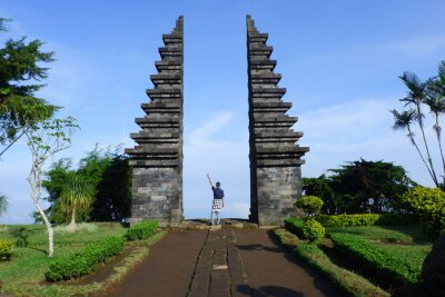 Posters monumen of history the king in java