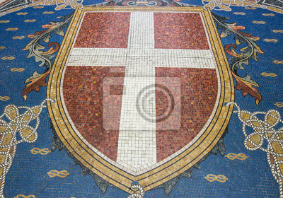 Mosaic.Logo de Milan, Italie