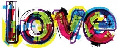 Posters Mot amour artistique