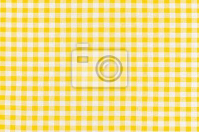 Posters motif carreaux jaunes tissu Vichy
