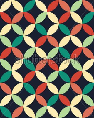 Posters Motif de cercles de mode abstrait géométrique hipster