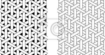 Posters Motif de rotin tissage sans couture, vector art