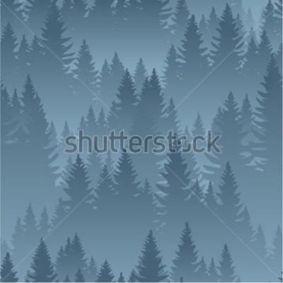 Posters motif sans soudure de texture vecteur montagnes forêt fond