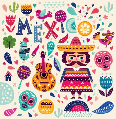 Posters Motif, Symboles, Mexique