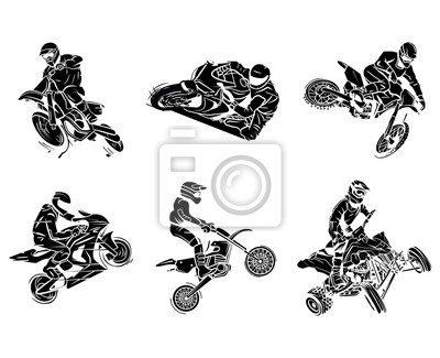 Moto Collection De Tatouage Affiches Murales Posters Haltere Quad