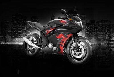 Posters Moto Moto Vélo Rider Concept contemporain