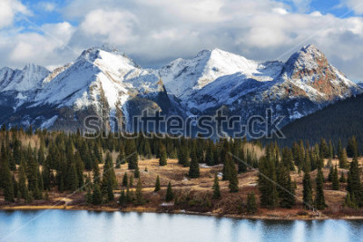 Posters Mountain Landscape in Colorado Rocky Mountains, Colorado, United States.