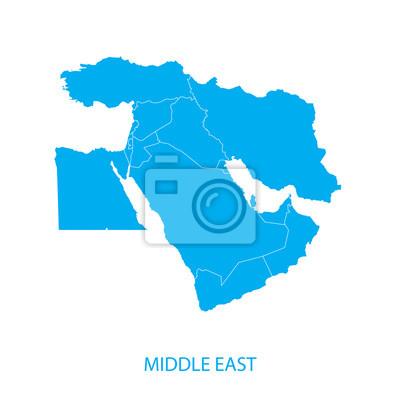 Posters Moyen-Orient Carte