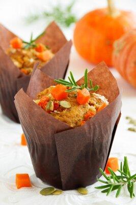 Posters Muffins de citrouille au romarin et aux graines.
