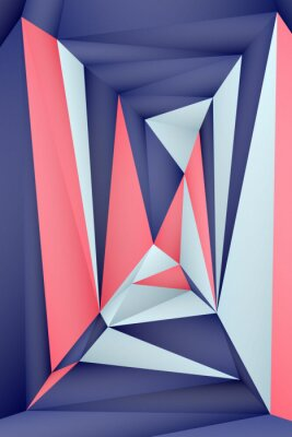 Posters Multi-color geometric triangular low poly abstract background. Creative illustration in halftone style with gradient. Triangular pattern for your business design.