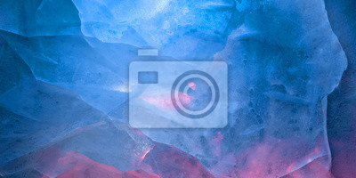 Posters Multicolored glow ice texture background