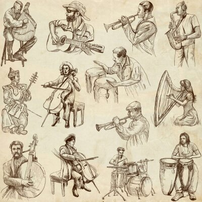 Posters Musiciens et musique à travers le monde (pas établis. 2, papier)