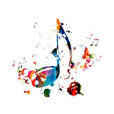 Posters Musique de fond coloré
