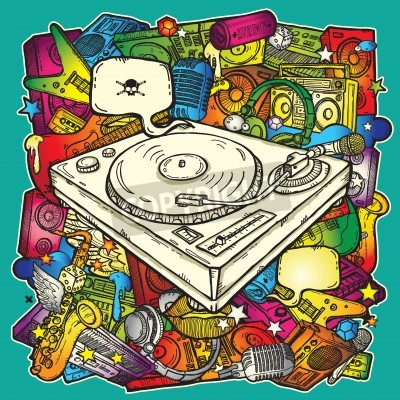 Posters Musique de fond dans la couleur