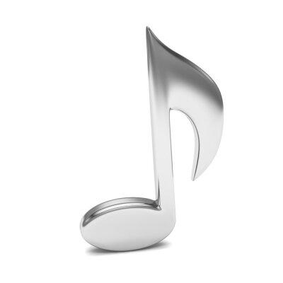 Posters Musique note 3D, sur blanc