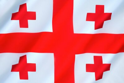 Posters National flag of Georgia