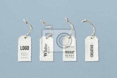 Posters Natural cotton cloth label mockup