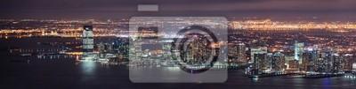 New Jersey nuit Panorama de New York Manhattan