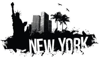 Posters New York bannière noire