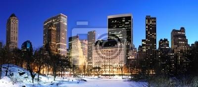 New York City Central Park de Manhattan panorama en hiver