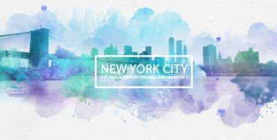 Posters New York City est l'endroit où les rêves sont faits carte postale