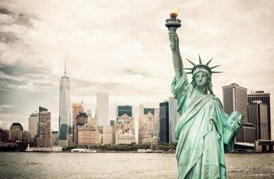 Posters New York City et Statue de la Liberté