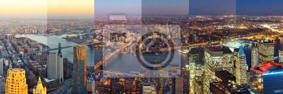 New York City jour et nuit du centre-ville