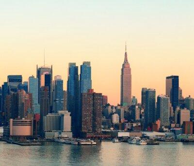 New York City le coucher du soleil