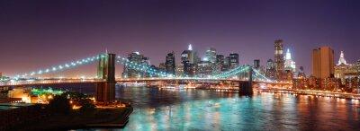 New York City Manhattan Brooklyn Bridge panorama