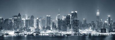 New York City Manhattan en noir et blanc