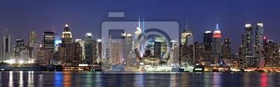 New York City Manhattan Midtown au crépuscule
