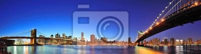 New York City Manhattan panorama au crépuscule