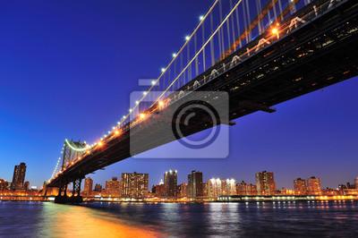 New York City Manhattan pont sur l'East River
