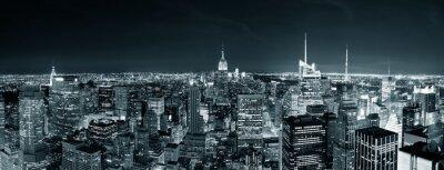 New York City Manhattan skyline de nuit