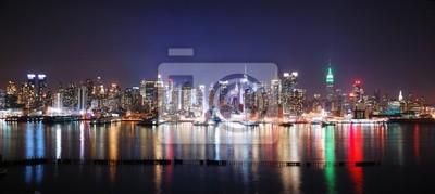 NEW YORK CITY panorama de nuit
