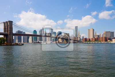 New York City, Pont de Brooklyn et Manhattan