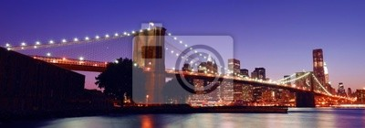 New York City Pont de Brooklyn panorama