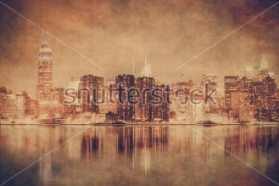 Posters New York City style vintage de Manhattan avec texture grunge