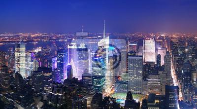 New York City Times Square à Manhattan horizon vue aérienne