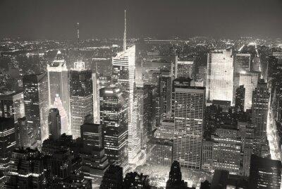 New York City Times Square à Manhattan skyline vue aérienne panoram