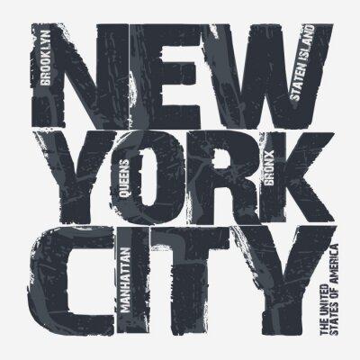 Posters New York City Typographie design