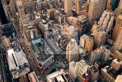 New York City Vue aérienne de rue