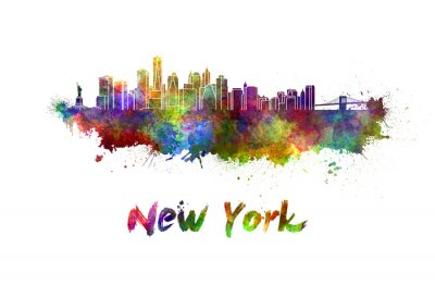 Posters New York skyline dans l'aquarelle