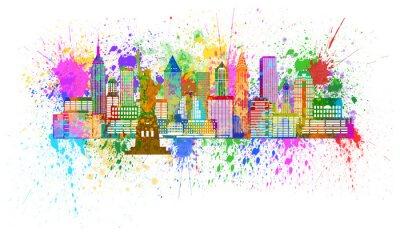 Posters New York Skyline éclaboussure de peinture Illustration